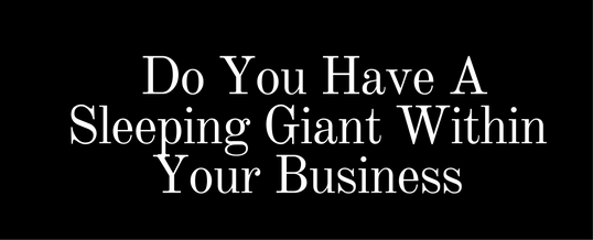 Do you have a sleeping giant within your business?